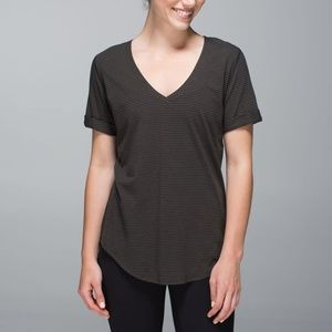 Lululemon Women's Deep Camo/Black Striped Love Tee